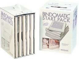 Bindomatic classic white cover starter pack
