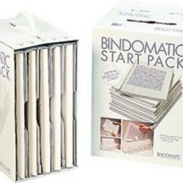 Bindomatic classic white cover starter pack